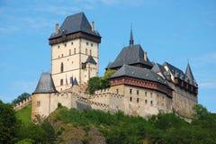 城堡捷克karlstejn共和国 免版税库存图片