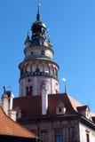 城堡捷克krumlov城镇科教文组织 免版税库存图片