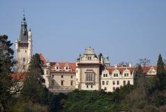 城堡捷克pruhonice共和国 库存照片
