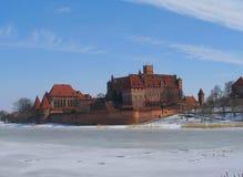 城堡授以爵位条顿人的malbork 免版税库存照片