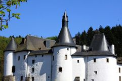 城堡接近的视图白色 库存图片