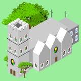 城堡教会 免版税库存照片