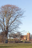 城堡教会skanderborg 库存照片