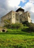 城堡斯洛伐克trenchin 免版税库存照片