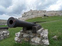 城堡斯洛伐克spis 库存照片