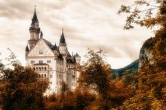 城堡新天鹅堡在巴伐利亚,德国 免版税库存图片