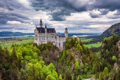 城堡新天鹅堡 库存图片