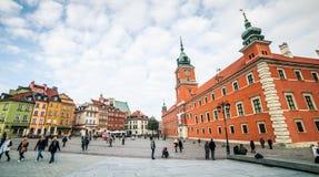 城堡方形华沙 库存照片