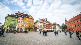 城堡方形华沙 免版税库存图片