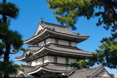 城堡日本人屋顶 免版税库存图片