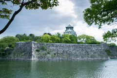 城堡日本大阪 库存照片