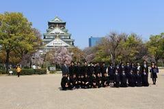 城堡日本大阪 免版税图库摄影