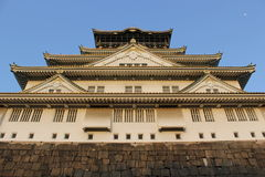 城堡日本大阪 图库摄影
