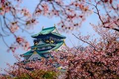 城堡日本大阪 免版税库存图片