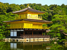 城堡日本kinkakuji京都 免版税库存照片