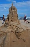 城堡日海岛南padre的沙子 免版税库存图片
