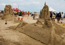 城堡日海岛南padre的沙子 库存图片
