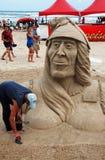 城堡日海岛iv南padre的沙子 免版税库存照片