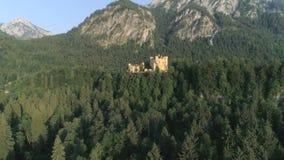 城堡日落Hohenschwangau巴伐利亚空中4k 影视素材
