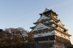 城堡日语大阪 免版税图库摄影