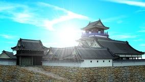 城堡日语 库存照片