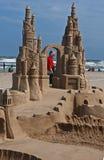 城堡日ii海岛南padre的沙子 免版税库存图片