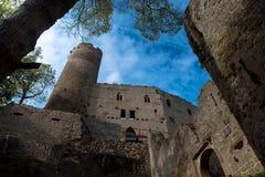城堡昂德洛废墟  免版税库存图片