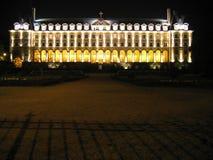 城堡晚上 库存照片