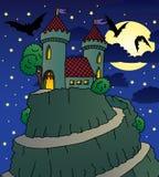 城堡晚上 库存图片