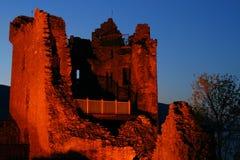 城堡晚上 免版税库存照片