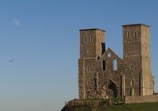 城堡月亮 库存图片