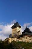 城堡有历史的karlstein 图库摄影