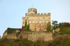 城堡有历史的pyrmont 库存照片
