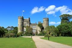 城堡标记malahide 图库摄影