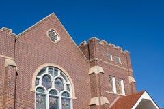 城堡样式丹佛科罗拉多教会 免版税库存图片