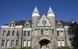 城堡样式建筑学教会  免版税库存图片