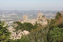 城堡概要停泊 图库摄影