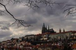 城堡欧洲老照片布拉格河旅行vltava 免版税库存图片