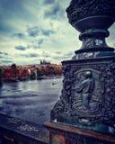 城堡欧洲老照片布拉格河旅行vltava 免版税库存照片