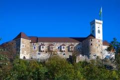 城堡欧洲卢布尔雅那斯洛文尼亚 图库摄影