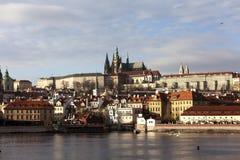 城堡欧洲老照片布拉格河旅行vltava 捷克共和国,布拉格 免版税库存照片