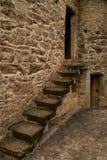 城堡步骤 免版税库存照片