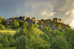 城堡永恒的爱丁堡 库存图片