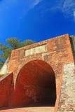 城堡永恒金黄被找出的台南  免版税库存照片