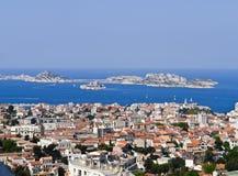 城堡法国,如果马赛端口 免版税库存照片