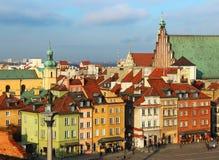 城堡波兰方形华沙 库存照片