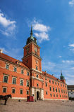 城堡波兰皇家华沙 库存照片