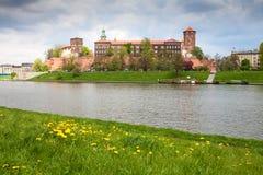 城堡波兰wawel 免版税图库摄影