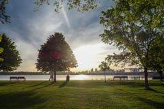 城堡海岛公园  免版税库存图片