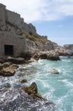 城堡海岛海岸 免版税库存图片